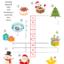クリスマス クロスワード1